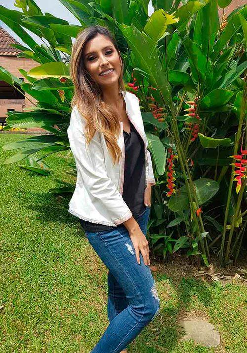 Chaqueta Tahiti Blanca Arcoiris